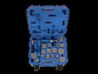 Набор инструмента для обслуживания тормозных суппортов пневматический KING TONY, 16 предм.