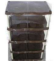 Полка обувная пластмассовая 5 ярусов Каскад