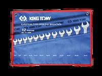 Набор ключей 6 - 32 мм рожковых KING TONY, 12 шт.
