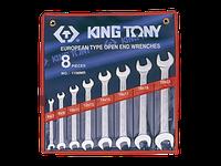 Набор рожковых ключей 8 - 19 мм KING TONY, 6 шт