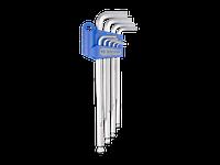 Набор шестигранных ключей  Г-обр.1,5-10мм экстрадлинные с шаром KING TONY, 9 пр.