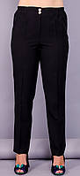 Элия. Классические брюки женские супер сайз. Черный.