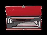 Набор шестигранных ключей  Г-обр. 3-17мм  KING TONY, 10 ед. в кейсе