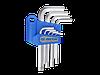 Набор шестигранных ключей Г-обр.1,5-10мм стандартных  KING TONY, 9 ед.
