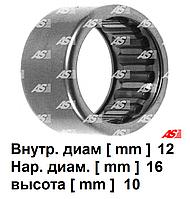 Подшипник стартера (передний) Ford Transit 2.5 D - 2.5 TD (86-00). Ø12*16*10 мм. Форд Транзит. AS -Poland.