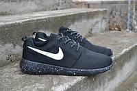 Кроссовки мужские Nike (найк) Roshe Run (роше раны) черные в точку 2017