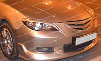 Реснички на Mazda 3 Bk до низа фары (накладки передних фар Мазда 3 Bk седан)