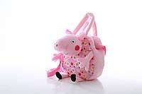 Сумочка Свинка Пеппа с игрушкой (Peppa Pig) 3 вида, 20/20 см