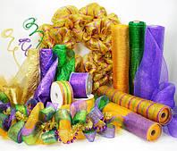 Органза, сетка, регилин, креп-бумага, тишью, фоамиран