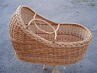 Люлька детская плетенная из лозы. Переносная., фото 1
