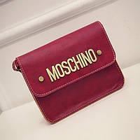 Маленькая женская сумка Moschino красная