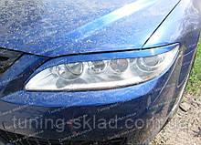 Реснички Мазда 6 GG до низа фар (накладки на передние фары Mazda 6 GG)