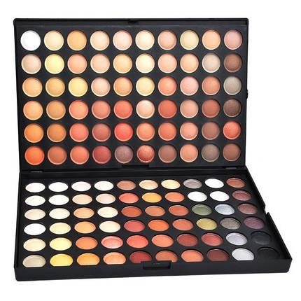 Профессиональная палитра теней МАС 120 цветов №4 теплые оттенки , фото 2