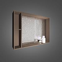 Шкафчик зеркальный с диодной подсветкой MC-980 (ШЗ-980) цвета исполнения-Венге;Белый.