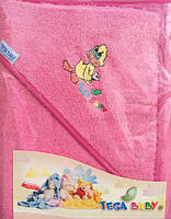 Полотенце махровое с капюшоном Tega 80*80 Balbinka  розовое
