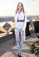Женская белая рубашка Belt