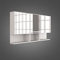 Шкафчик зеркальный с распашной дверцей (открывается вверх) MC-Butterfly (ШЗ-Butterfly) цвета исполнения-Венге;