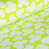 Отрез детской ткани Микки лайм 50х105 см