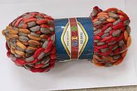 Пряжа полушерсть для вязания меланж ализе толстая нитка