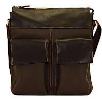 Современный кожаный мессенджер для деловых людей 31х29х6 VATTO Mk-41.4 FL7Kаz400 коричневый