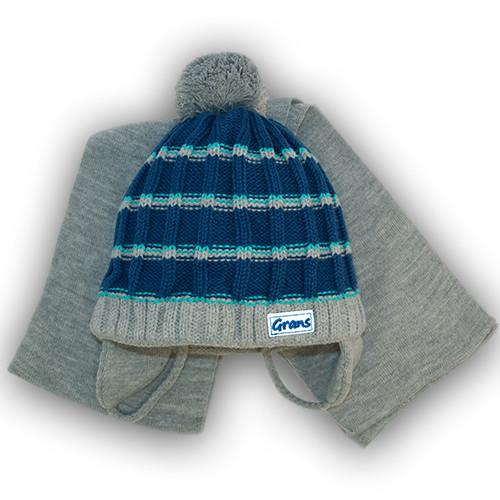 Детский комплект - шапка + шарф