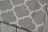 Лоскут ткани №284  марокко серого цвета, фото 2