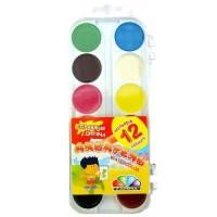 """Акварельные краски """" Гамма """" 12 цветов в пластиковой упаковке"""