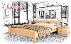 Ліжко дерев'яне Рената