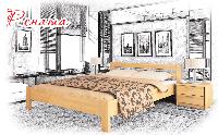 Ліжко дерев'яне Рената, фото 1
