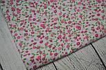 Отрез ткани №131  с мелкими розовыми цветочками размер 63*160, фото 2