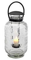 Уличный (садовый) фонарик интерьерный стеклянный для свечи (высота 44 см)