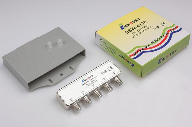 Коммутатор DiSEqC 2.0 4x1 Eurosky DSW-4130 в кожухе