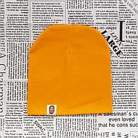 Шапка трикотажная Варе  светло оранжевая