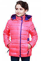 Короткая детская курточка розового цвета, фото 1