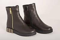 Кожаные зимние ботинки Осень-Зима