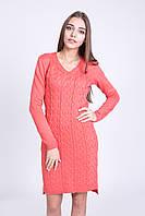 Женское вязаное теплое платье