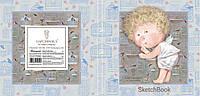 Блокнот для эскизов - скетчбук Гапчинская 260*260 мм, 36 л, интегральная обложка, чистые листы