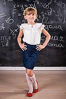 Блуза школьная нарядная шифон