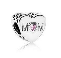 Пандора шарм Материнское сердце, серебро