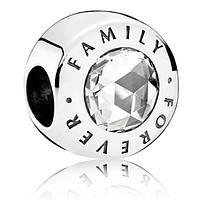 Пандора шарм Семья навсегда, серебро