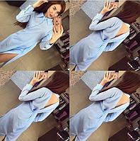 Платье  с разрезами в мелкую полоску 3309 (НАТ)