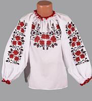 Блуза детская с вышивкой Роза мелкая 25