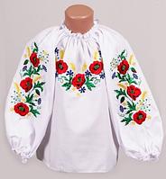 Блуза детская мак-василек-колосок 234
