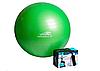 Фитбол для занятий фитнесом 65см с насосом PowerPlay зеленый