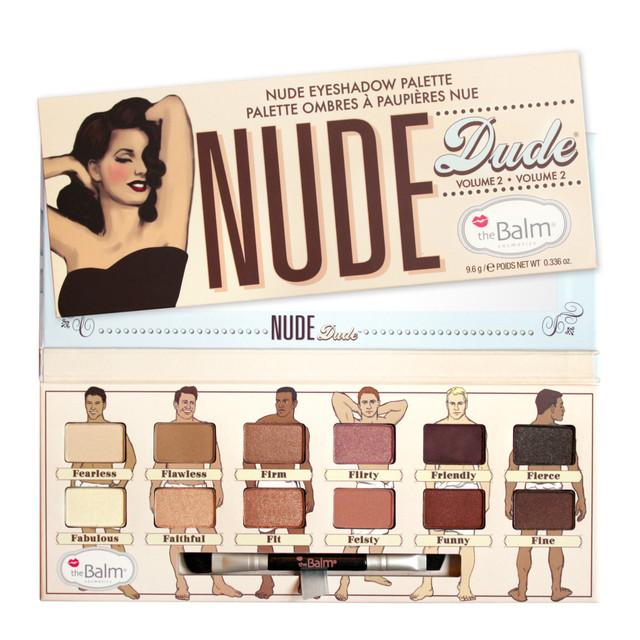 Палитра из 12 теней для макияжа Nude theBalm