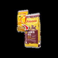 Сухой корм (Josera lamb and rice) для собак всех пород с ягненком и рисом 15 кг