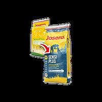 Josera sensiplus сухой корм для взрослых собак склонных к алергии и проблемах с пищеварением(утка и рис)15 кг