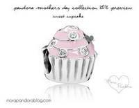 Пандора шарм Sweet cupcake, серебро эмаль