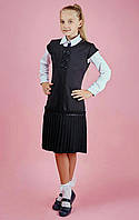 Школьный сарафан для девочки, Складочка чёрного цвета