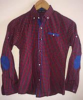 Рубашка для мальчика с длинным рукавом в клетку № 1180